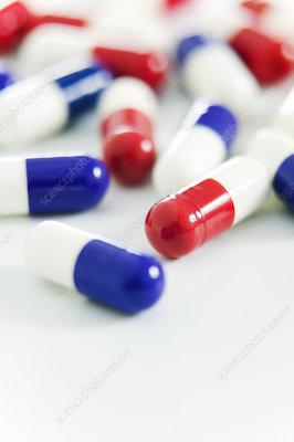 Paracetamol drug capsules