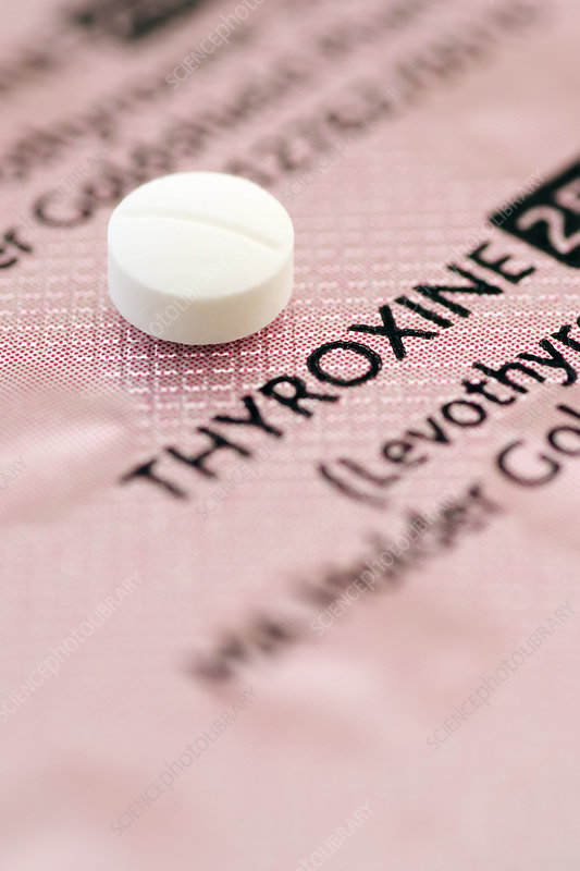 Thyroxine Hormone Pill Stock Image M625 1482 Science Photo