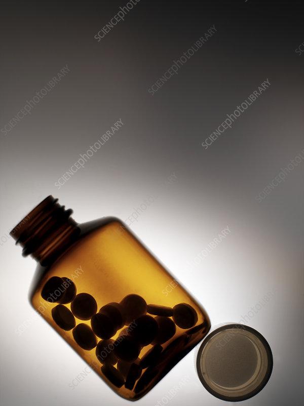 Pills in a bottle