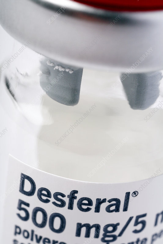 Thalassaemia drug, Desferal - Stock Image M625/1582