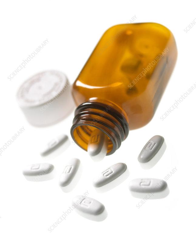 Erythromycin antibiotic pills