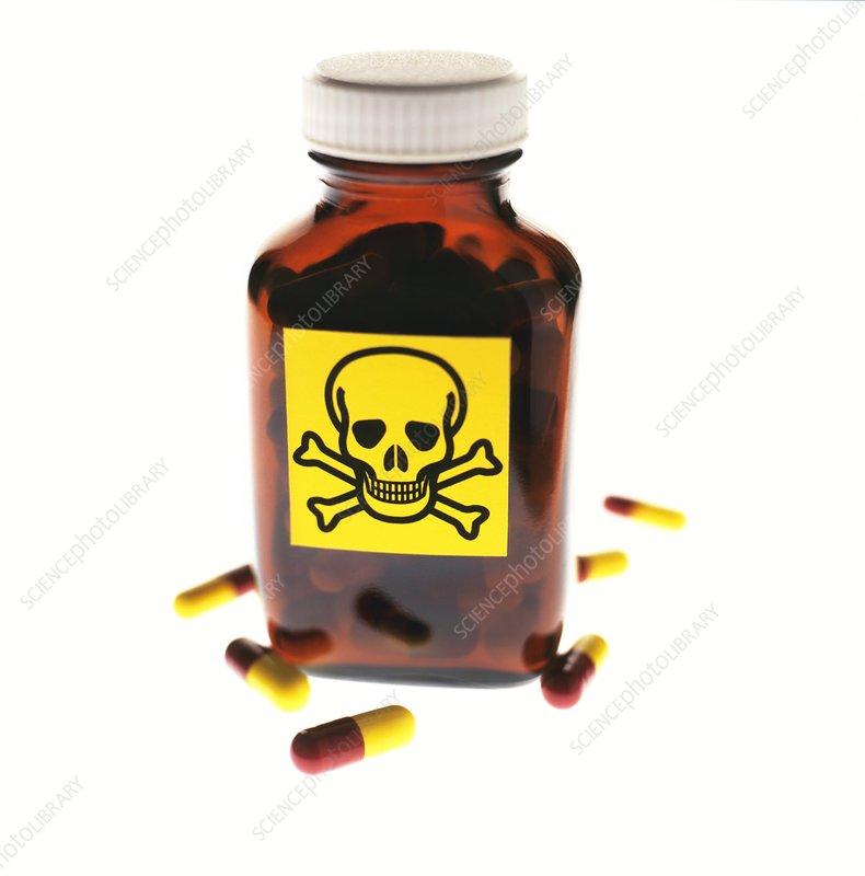 Toxic medication, conceptual image
