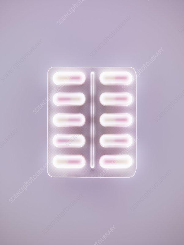 Blisterpack of pills