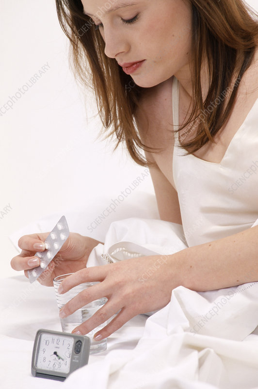 Taking tablets in bed