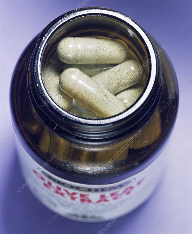 Olive leaf extract tablets