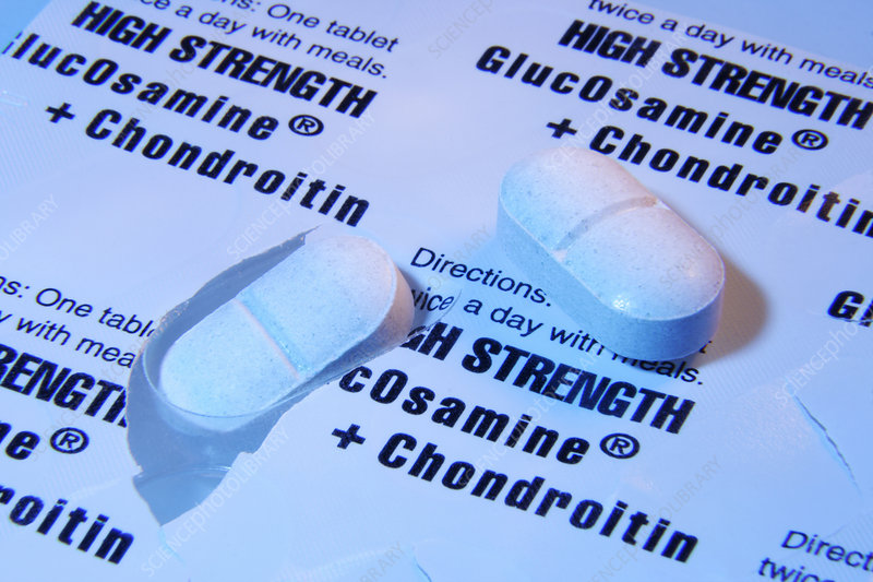 Glucosamine and chondroitin tablets