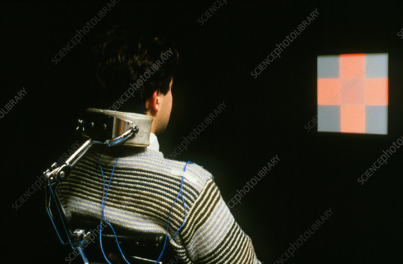 Man undergoing biofeedback therapy