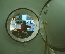 Hyperbaric oxygen chamber and outer control panel