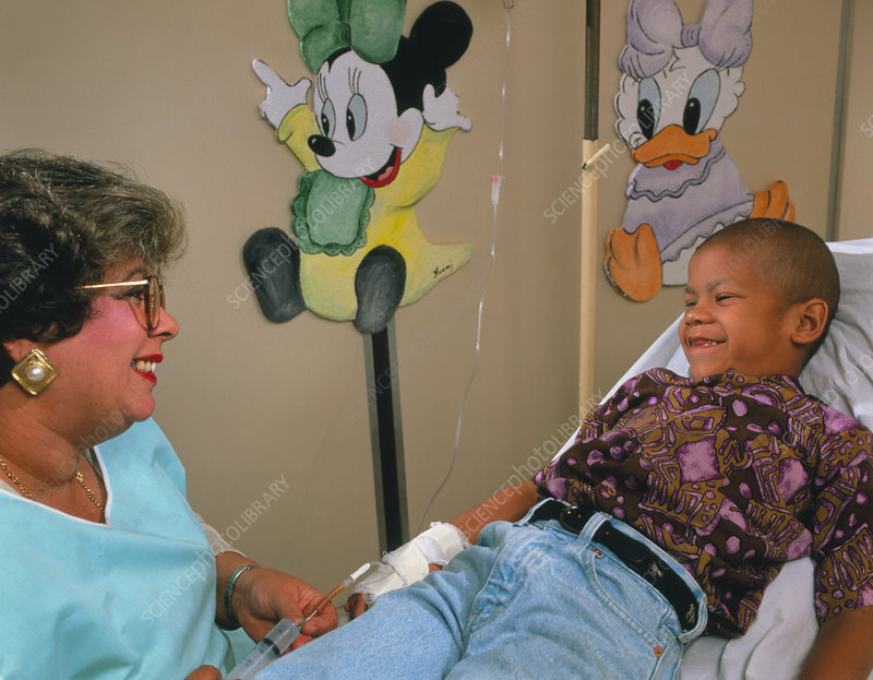 Child undergoing chemotherapy