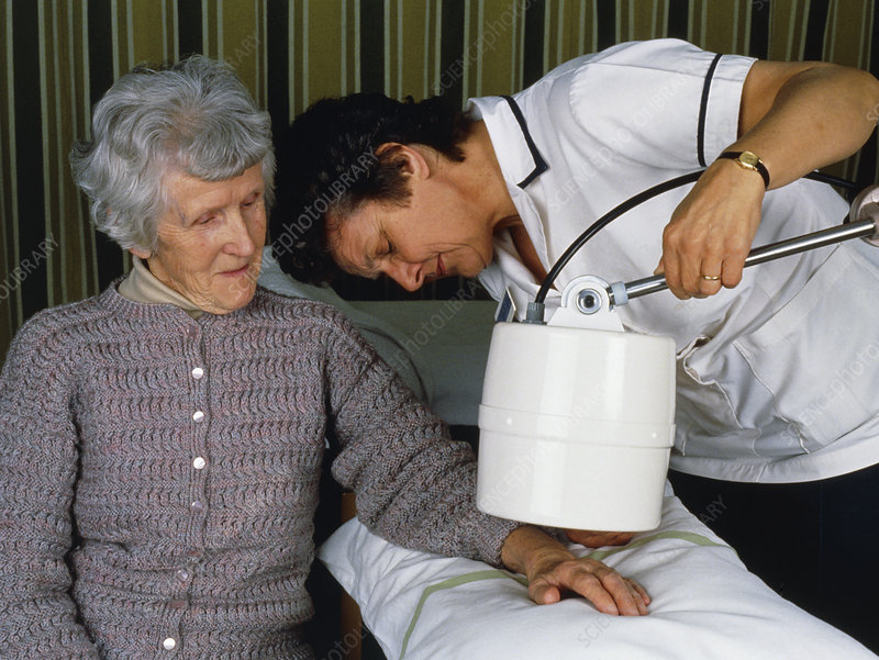 Physiotherapist giving pain relief