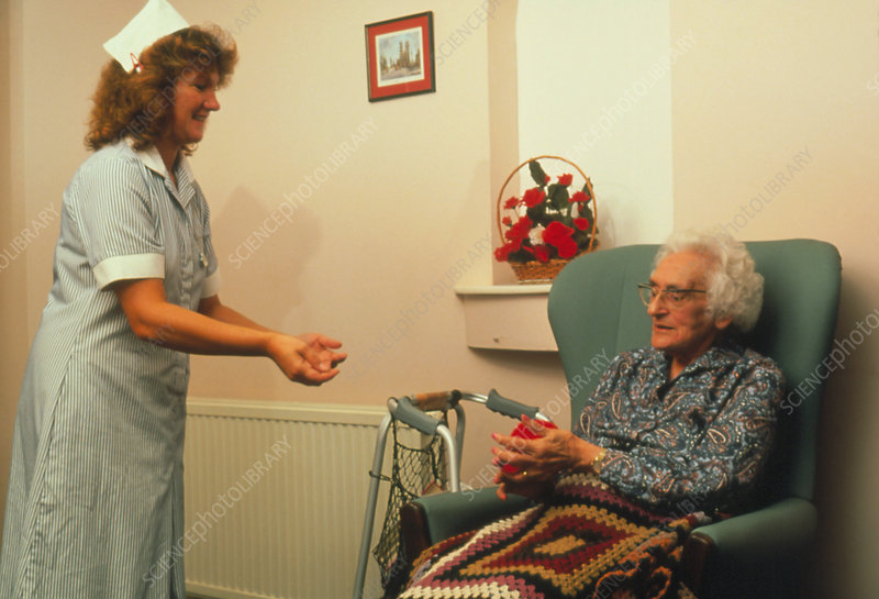 Woman with arthritic hands during physiotherapy