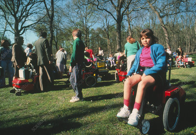 Muscular dystrophy sufferers: outdoor activity