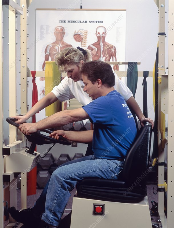 Occupational therapy to test arm control