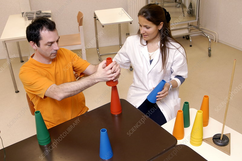 Occupational therapy - Stock Image - M720/0496 - Science