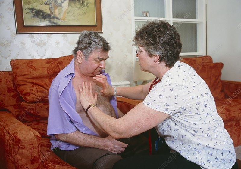 Community matron on a home visit