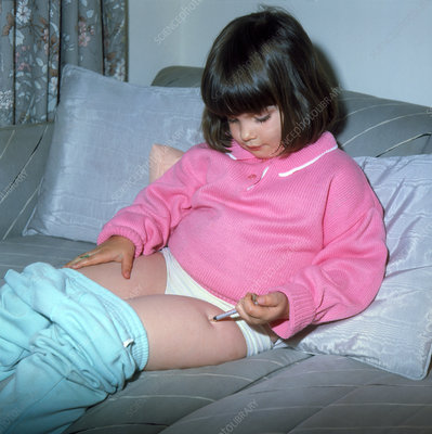 Diabetic young child