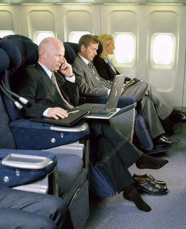 Flight Socks For Dvt Prevention Stock Image M725 0337