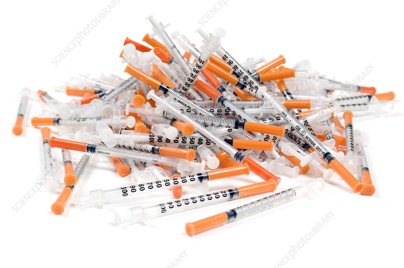 Used insulin syringes