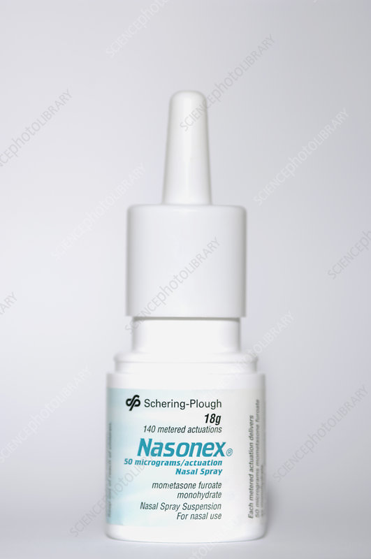 Nasonex Spray For Allergic Rhinitis Stock Image M728