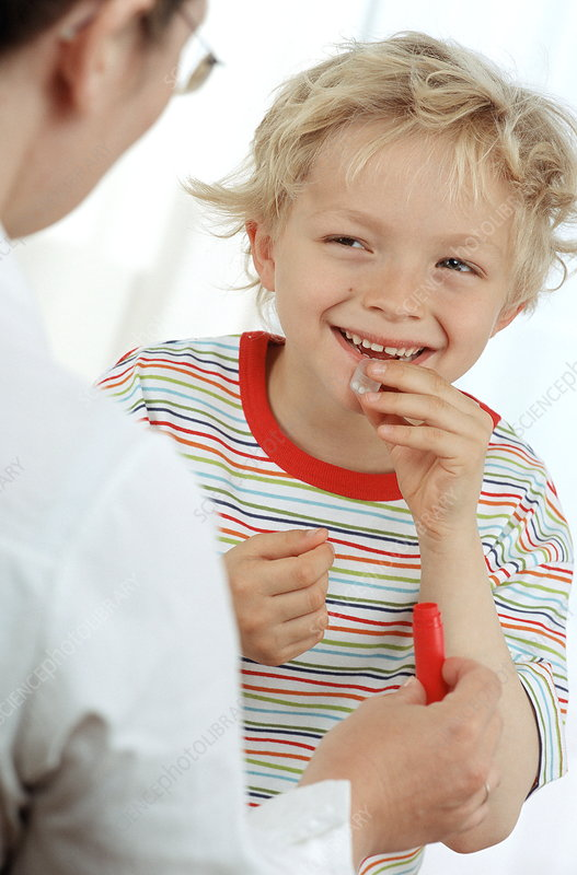 Child with homeopath