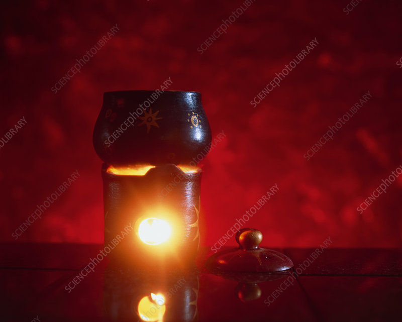 Aromatherapy burner heating essential oils