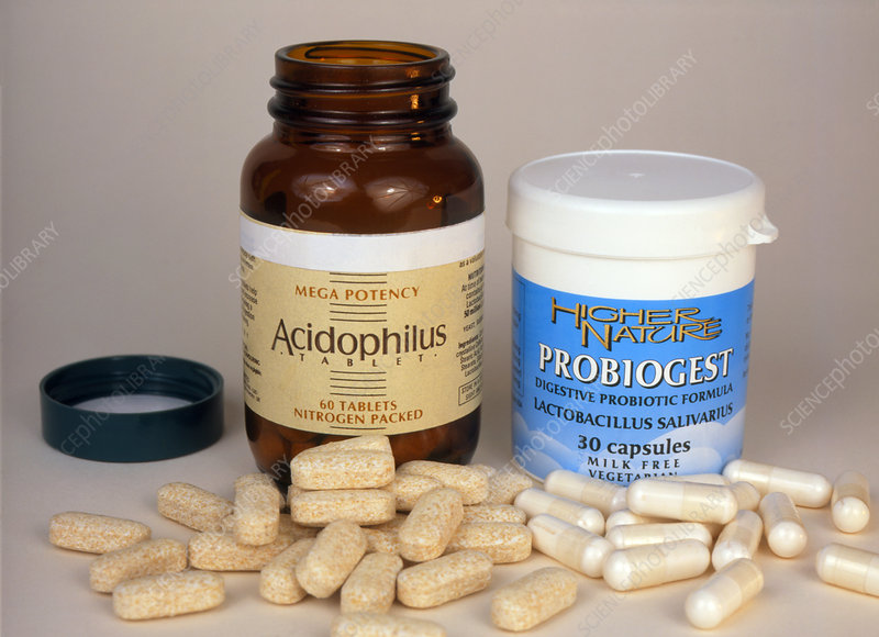 Two types of probiotic pills