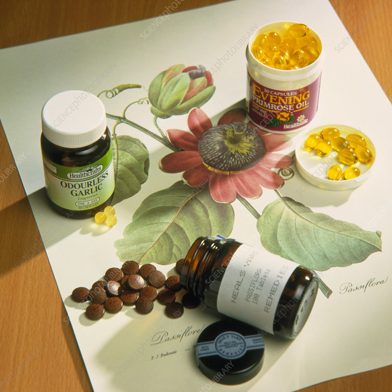 Various herbal capsule preparations