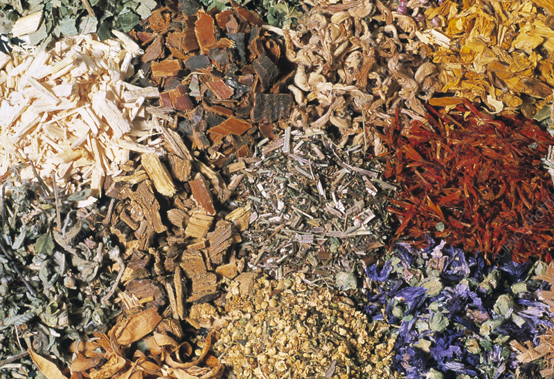 Dried herb assortment