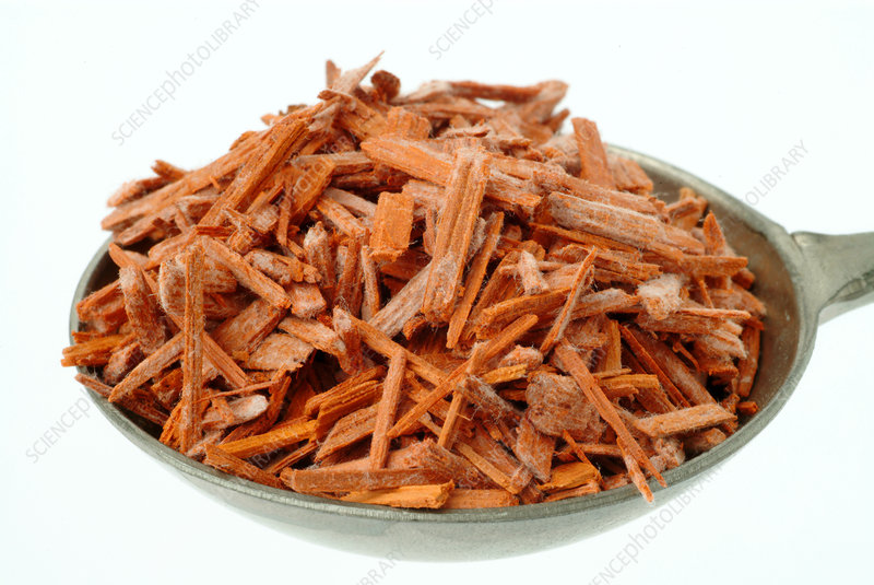 Dried red sandalwood