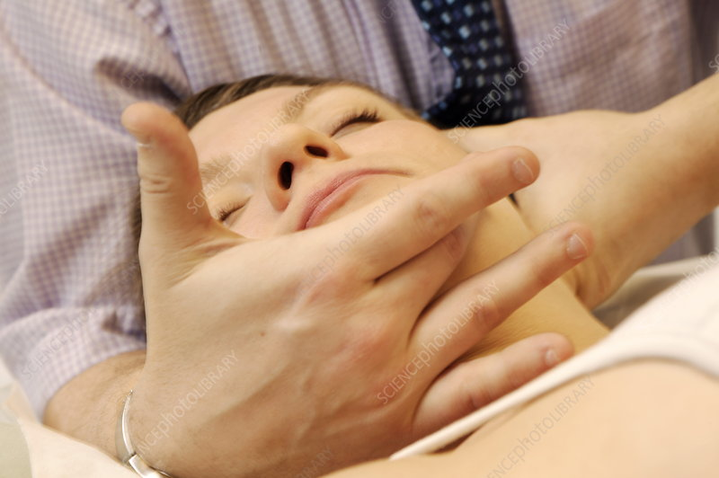 Osteopathy neck manipulation