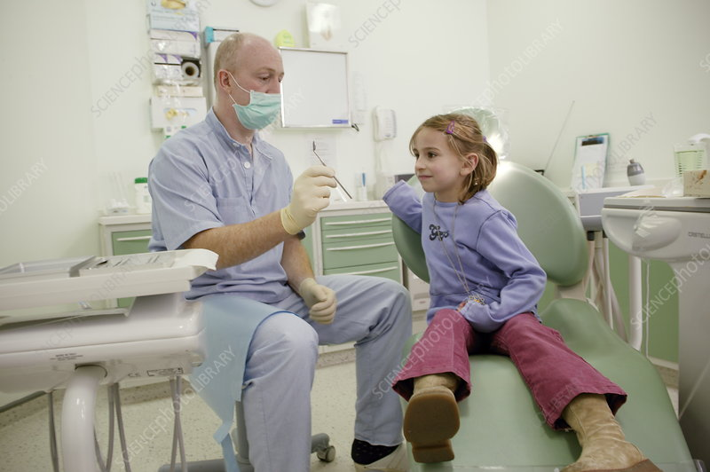 Girl with dentist