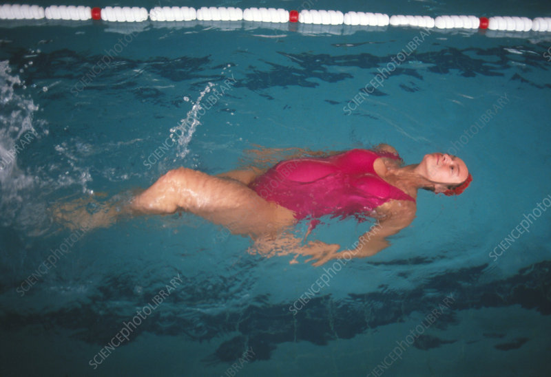 8 Month Pregnant Woman Swimming Stock Image M805 0271 Science Photo Library