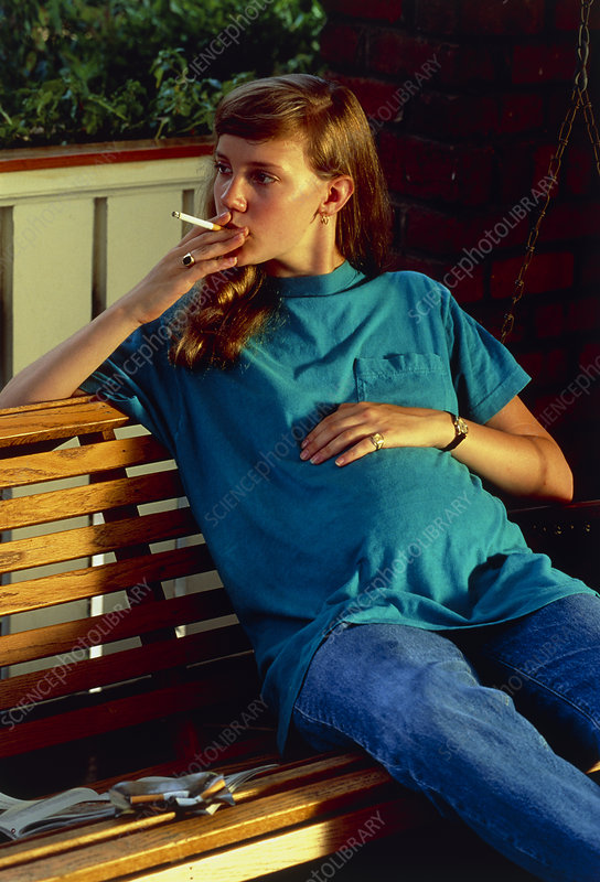 Pregnant girl smoking