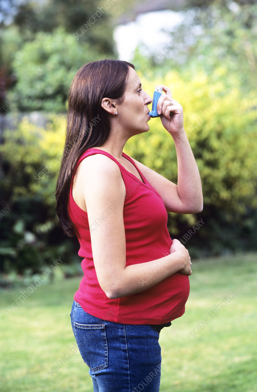 Asthmatic pregnant woman