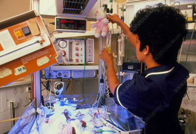 Nurse at work in the neonatal unit