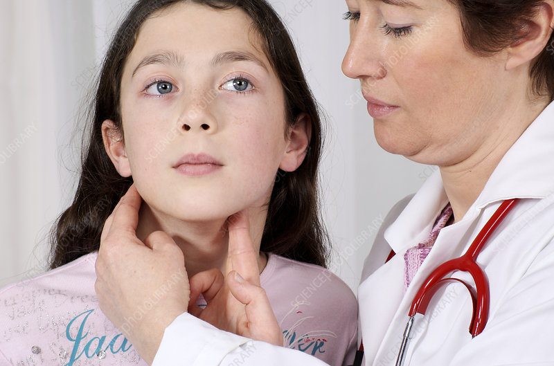 Checking for symptoms of mumps