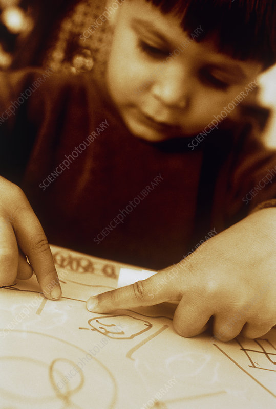 Boy with drawing