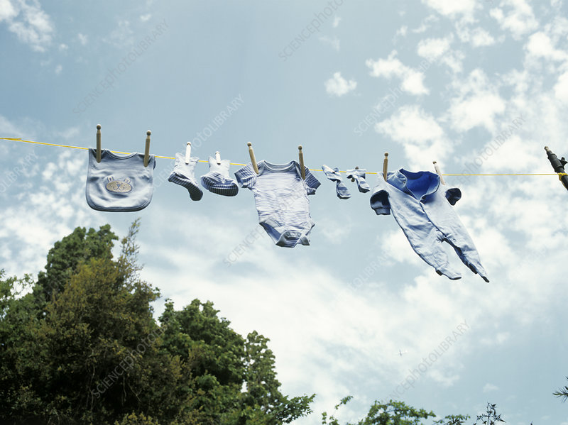 Baby clothes drying