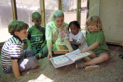 Children being read to