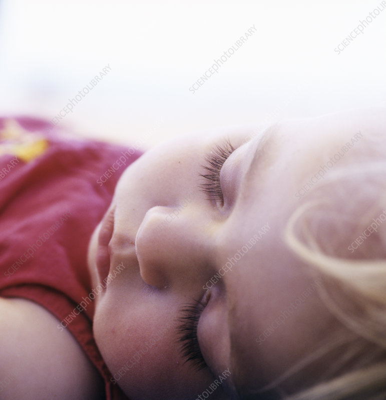 Young girl sleeping