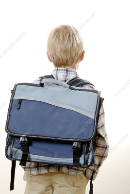 Boy carrying a satchel