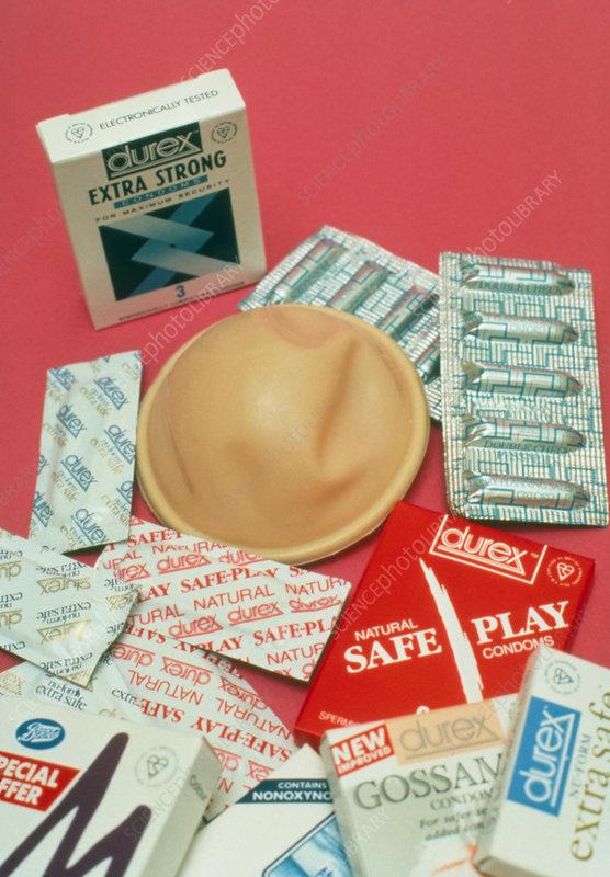 Assortment of contraceptives