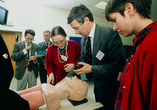 Mannikin used to train in resuscitation techniques