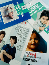 Posters promoting child vaccination programmes