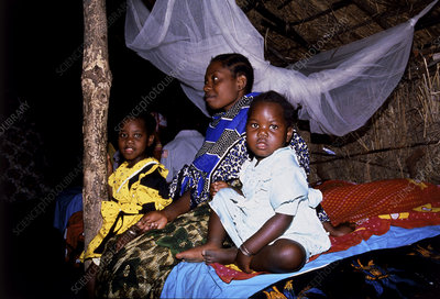 Children in village hospital ward, Tanzania