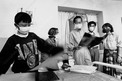Doctors in tuberculosis ward in the third world