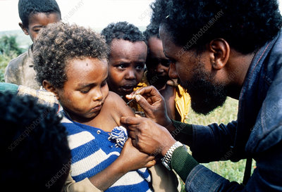 Rural vaccinations in Ethiopia