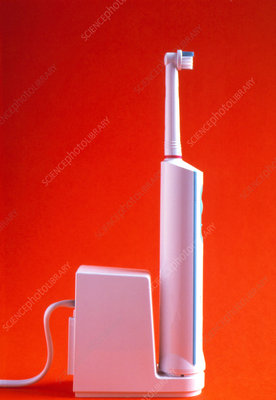 View of an electric toothbrush