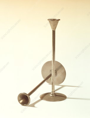 Historical stethoscopes