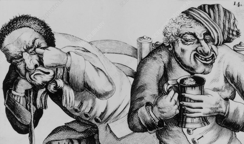18th century engraving of alcoholics